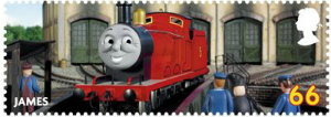 thomas the tank 66p james stamp