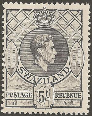 Timbre_Swaziland_G6_5sgris_1938
