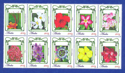 Stamps Flowers 2010